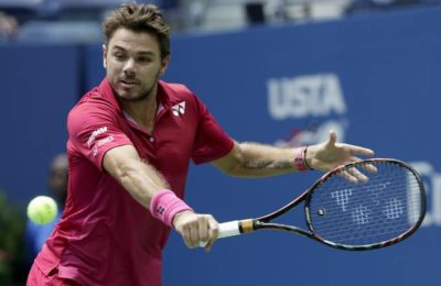 Stan Wawrinka, of Switzerland, returns a shot to Fernando Verdasco, of Spain, during the first round of the U.S. Open tennis tournament, Tuesday, Aug. 30, 2016, in New York. (AP Photo/Frank Franklin II)