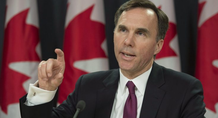 Minister of Finance Bill Morneau speaks to media as he delivers a fiscal update during a news conference, in Ottawa, on Friday, Nov. 20, 2015. THE CANADIAN PRESS/Adrian Wyld