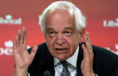 John McCallum, Liberal candidate for Markham-Thornhill, holds a news conference to discuss a hole in the NDP's spending plans, in Ottawa, Sunday August 30, 2015. THE CANADIAN PRESS/Fred Chartrand