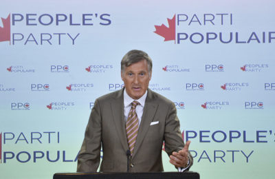 MP Maxime Bernier holds a press conference in Ottawa on Friday, September 14, 2018. iPolitics/Matthew Usherwood